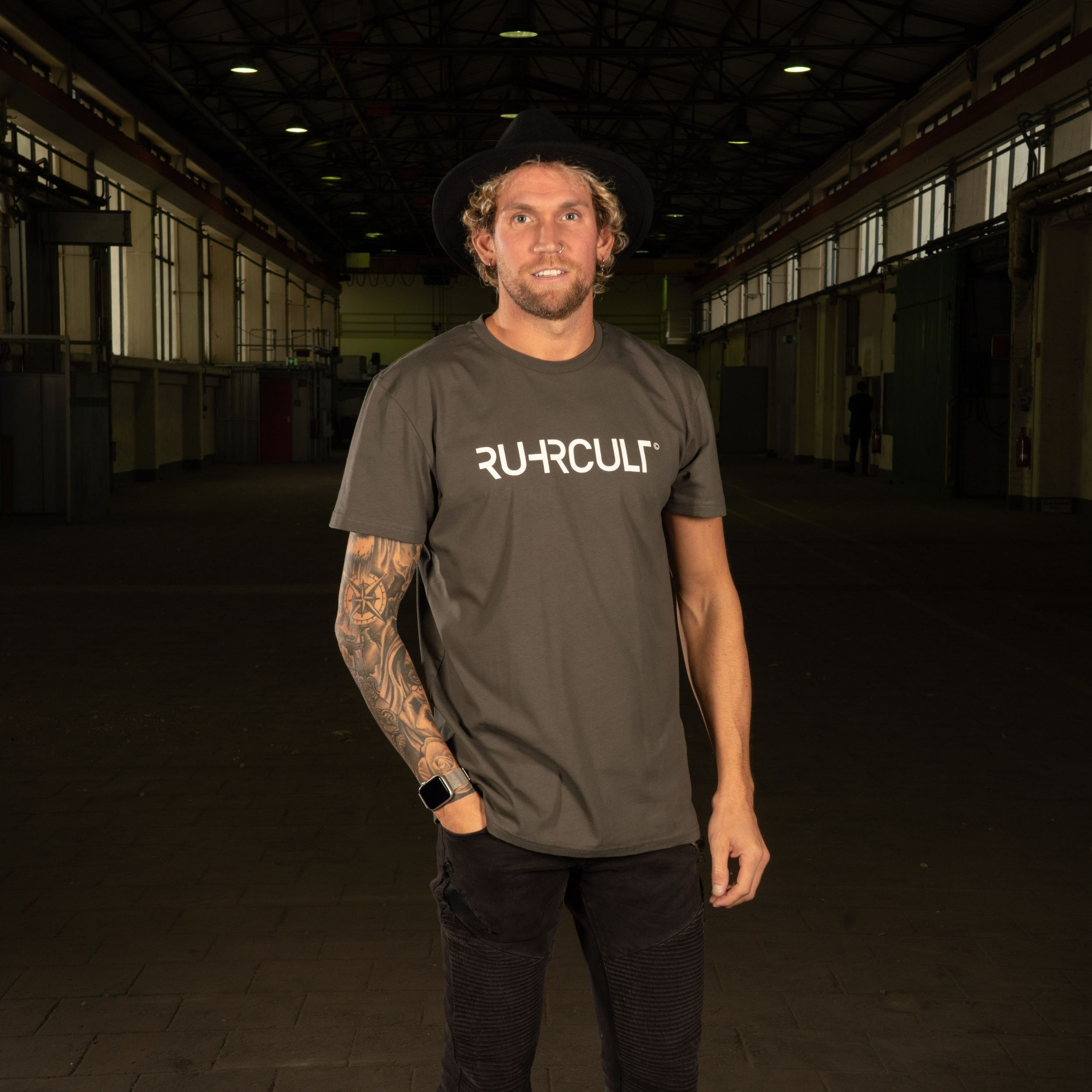 RUHRCULT Herren Basic T-Shirt mit Frontprint